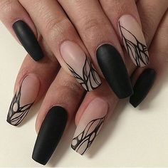 62 Best 💅 Black Coffin Nails Design You May Crazy for It (Glitter Nails, Matte Nails) - Page 25 ღ♥𝙄𝙛 𝙔𝙤𝙪 𝙇𝙞𝙠𝙚, 𝙅𝙪𝙨𝙩 𝙁𝙤𝙡𝙡𝙤𝙬 𝙐𝙨 ♥ ♥ ♥ ♥ ♥ ♥ ♥ ♥ ♥ ♥♥ Hope you like this collection! ღ♥ sᴇxʏ ʙʟᴀᴄᴋ ɴᴀɪʟs ᴅᴇsɪɢɴ ♥ღ օշշՏ-Տ Fabulous Nails, Gorgeous Nails, Matte Nails, Acrylic Nails, Glitter Nails, Stiletto Nails, Pointed Nails, Cute Gel Nails, Black Coffin Nails