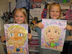 Jamestown Elementary Art Blog: 1st grade Mother's Day Portraits