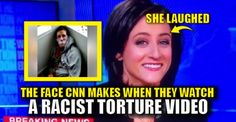 "Apparently, FAKE NEWS CNN reporter Sara Ganim thinks the kidnapping and torture of a disabled man is ""chuckle worthy."" During her live interview with hack Wolf Blitzer, Sara was busted LAUGHING while viewing and ""reporting"" on the vile, racist, hate-crime video. Does CNN wonder why no one takes them seriously? PIGS. Watch the video: SICK! this actually happened @CNN @CNNSitRoom reporter Sara Ganim @sganim caught LAUGHING while watching #BLMKidnapping footage on air! WOW! pic.twitter.com"