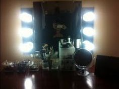 DIY;How to make a Vanity Mirror and Lights