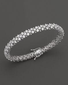 c76292791 4 Carat #Diamontennis Bracelet in 14K White Gold, Fantastic Value ...