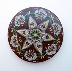 Norwegian Rosemaling | Norwegian Rosemaling Painted Wood Box .. a vintage treasure ..