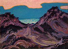 Wenzel Hablik – Sylt, Sonnenuntergang, Dünen 1912, Wikipedia