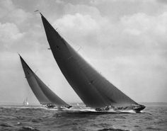 Photo Show 34 & Art of the Boat: Mystic Seaport Rosenfeld Collection - Mystic Museum of Art Sailboat Racing, Sail Racing, Classic Sailing, Classic Yachts, Catamaran, J Class Yacht, Mystic Seaport, Yacht Boat, Wooden Boats