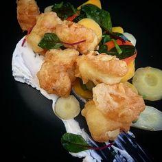 Tempura de lotte.... #menubistronomique #lotte #tempura #poissonfrais #cuisinedumarché #Food #Foodista #PornFood #Cuisine #Yummy #Cooking