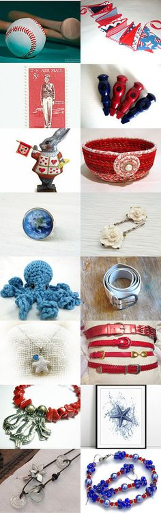 Red White and Blue by Kim Cole on Etsy--Pinned with TreasuryPin.com