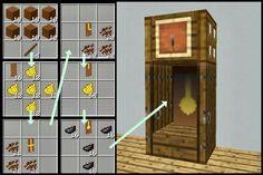 Grandfather clock design #Minecraftfurniture