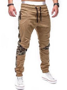 Chino Joggers, Mens Joggers, Casual Jeans, Men Casual, Casual Outfits, Jogger Pants Style, Style Masculin, Camouflage, Slim Fit Pants