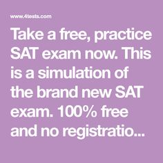 33 best sat exam images on pinterest sat exam sat study and test prep take a free practice sat exam now this is a simulation of the brand fandeluxe Gallery