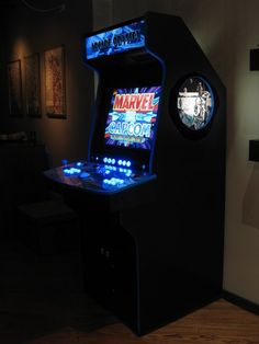 I'd like to buy/make one of these, and convert it to a multi-game/format system. Home Theater Rooms, Arcade Games, Homemade, Cool Stuff, Board, Ideas, Home Theatre Rooms, Home Movie Theaters, Home Made