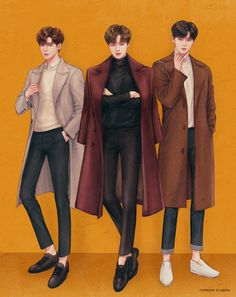 Jungkook, Jimin n Jin Cinderella And Four Knights, Anime Boy Sketch, Kpop Drawings, Fashion Figures, Korean Art, Foto Art, Fanarts Anime, First Art, Kpop Fanart