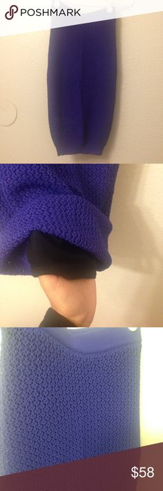 Bebe purple knit skirt Nwt, gorgeous deep purple skirt, knitted material as you can see, color really true in 2nd pic, layered w black skirt so you wont worry about being exposed, ***offers via button only*** tagged XXS but i think itll fit up to a S bc the material is stretchy bebe Skirts