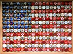 american flag bottlecaps. diy coffee table for man cave?