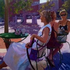 Rendezvous by Dennis Perrin Oil ~ 20 x 20 Edward Hopper, Winston Churchill, Painting People, Figure Painting, Impressionist Artists, Lost Art, Sell Your Art, Great Artists, Impressionism