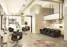 """By Naos Design Srl - """"i Love Riccio"""" New Project ComingUp - Mood Industrial Minimal Chic #architecture #naosdesign #decor #details #furniture #coolreference #hairdresser #curlyhair #hairdressing #interiors #style #parrucchiere #ilovericcio #milano Vuoi un #salone dal design unico ed esclusivo ma dal prezzo accessibile? inviaci una email con le tue esigenze a info@naosdesign.it - 02.55191010 #milano www.naosdesign.it"""