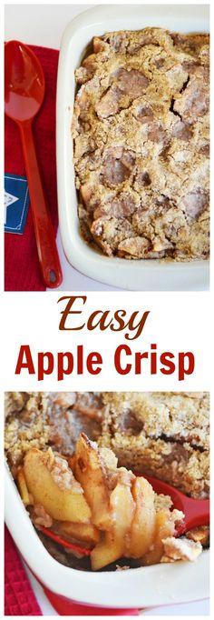 Easy Apple Crisp Recipe- Perfect for the apple season!