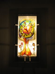 Szeretetfa Meselámpa, fali lámpa www.meselampa.hu by AsterGlass Design (Burján Eszter 'Aster' üvegfestő művész)