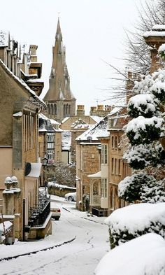 Winter in Stamford, Lincolnshire, England