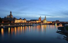 Photo about Shot taken in dresden, in germany, at the evening. view of the old city by night with the river Elbe. Image of germantown, building, architecture - 9530650 Dresden, Paris Skyline, New York Skyline, Anna, Art Series, Old City, Pilgrimage, Classical Music, Old Town