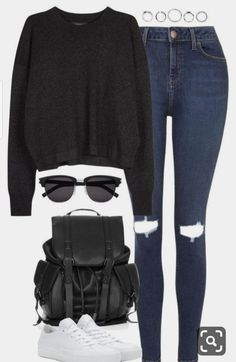 Casual School Outfits, Cute Comfy Outfits, Casual Fall Outfits, Swag Outfits, Stylish Outfits, Summer Outfits, Polyvore Outfits Casual, Fall College Outfits, Beach Outfits