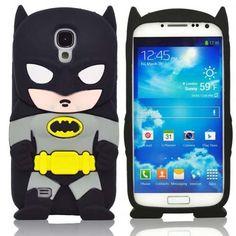 3D Batman Silikon Handyschutzhülle für Samsung Galaxy S4 Schwarz