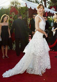Jennifer Garner vestindo Oscar de la Renta, Emmy Awards 2004