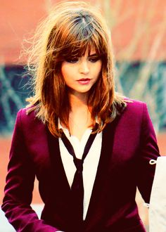 Jenna Coleman // Doctor Who // May just be becoming my favorite companion, though Martha is pretty awesome...