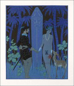 "Art deco: George Barbier ""Vies imaginaires"", 1929"