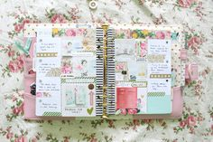 March's planner pages are by far my favorite pages in my memory planner thus far. I picked up some of Heidi Swapp's floral washi tape from her Marquee line at Michaels and used it throu…