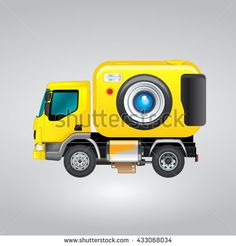 Detail Photo Truck Icon / Moving Camera / Photo Booth