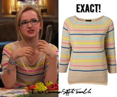 """Dove (as Maddie) wears this striped sweater in """"Switch-A-Rooney"""" & """"Flashback-A-Rooney"""" Topshop Knitted Coloured..."""