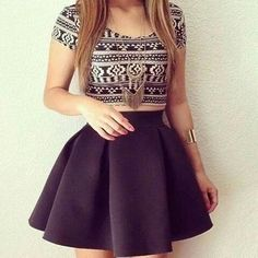 Crop top dress