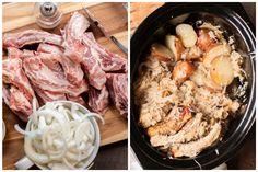 Slow Cooker Ribs, Slow Cooker Freezer Meals, The Magical Slow Cooker, Sauerkraut Recipes, Sliced Potatoes, Gluten Free Chicken, One Pot Meals, Pot Roast, Crockpot Recipes