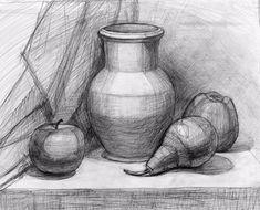 Картинки по запросу натюрморт карандашом