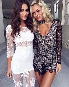 It's all about lace. Both looks $69.95. We are obsessed . Shop via link in bio! FREE EXPRESS SHIPPING on orders over $80 to USA, AUS & NZ! We also ship worldwide!