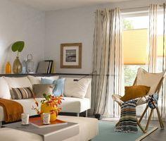 Feng Shui Wohnzimmer Einrichten Bunt Couch Vorhaenge Deko