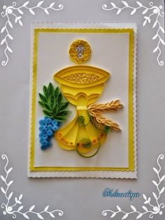 Ray of Sunshine- Zraka sunca Paper Quilling Patterns, Neli Quilling, Quilled Paper Art, Quilling Paper Craft, Paper Crafts, Diy Crafts, Quilling Ideas, Donia, Sunday School Crafts