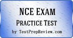 Free NCE Practice Test Questions by TestPrepReview. Be prepared for your National Counselor exam. #nceexam