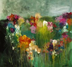 flowers in a meadow 48x48 inch gallery wrapped canvas wendy mcwilliams