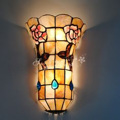 Natural shell lamps Tiffany Wall rustic entrance hallway lamp aisle lights 9 inch Rose minimalist Wall