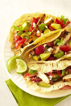 Grilled Chicken Tacos with Strawberry Salsagoodhousemag