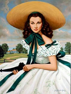 Painting of Scarlett O'Hara