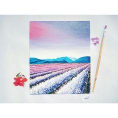 Landscape oil painting, nature, flowers, wild.