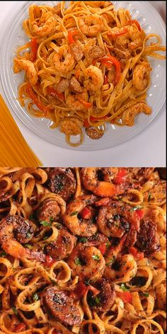 Cajun Shrimp and Sausage Pasta is easy to make weeknight pasta dish! With only 30 minutes of total work, this shrimp pasta dinner recipe is simple, fast and delicious! Ingredients: large shrimp Cajun seasoning (or Creole seasoning) Oregano 2 tables Sausage And Shrimp Recipes, Shrimp And Sausage Pasta, Cajun Shrimp Pasta, Pasta Dinner Recipes, Shrimp Recipes Easy, Cajun Recipes, Seafood Recipes, Chicken Recipes, Cooking Recipes