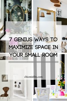 Maximizing space doesn't have to be about boring storage under your bed. Get clever with it! This is where multiple illusions will work on your behalf, making ceilings look taller and rooms look wider. Check out these 7 ways to maximize space in your small rooms.