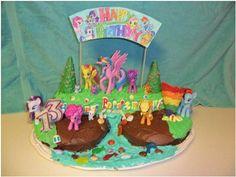 MLP: FIM Birthday Cake by Cutie-Mark-Crusader