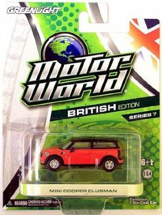 Greenlight Motor World Mini Cooper Clubman, British edition, series Scale Die Games, Mini Cooper Clubman, Matchbox Cars, Diecast Models, American, Hot Wheels, Jigsaw Puzzles, Remote, Scale