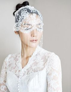 Vintage veil Check out my Vintage Inspired Wedding blog at www.froufroulebleu.com xoxo, Kirstin :-)