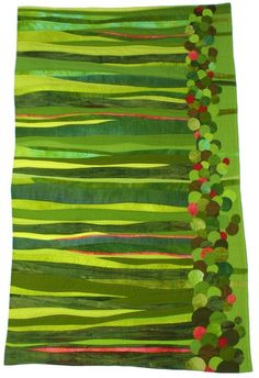 Lime green inspired quilt. Would make a cute bed skirt.