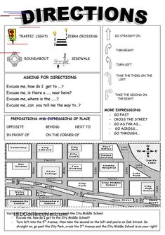 A collection of English ESL Prepositions of movement worksheets for home learning, online practice, distance learning and English classes to teach about English Resources, English Activities, English Tips, English Study, Education English, English Words, English Lessons, Learn English, Esl Writing Activities